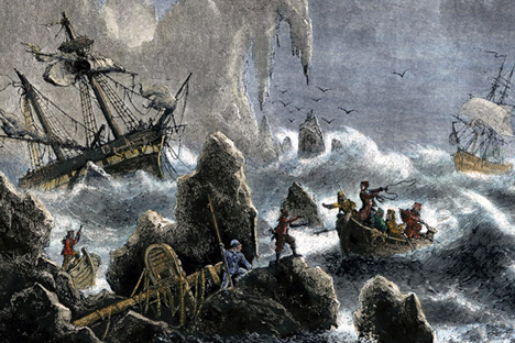 Vitus Bering, ilustrasi abad ke-19. Foto: Wikipedia