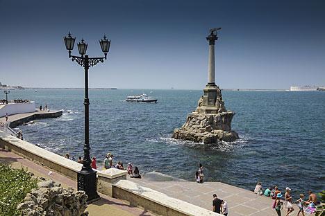 Pelabuhan Sevastopol di Krimea, Rusia. Foto: Getty Images/Fotobank