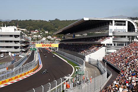 Penyelenggara F1 terkesima melihat popularitas F1 di Rusia. Foto: Vladimir Anosov/RG