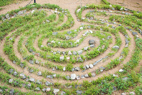 Labirin batu yang misterius di Semenanjung Kola di barat laut Rusia. Foto: Lori/Legoion-Media