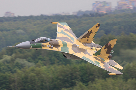 Kementerian Pertahanan Indonesia tengah mempertimbangkan opsi pembelian 16 pesawat tempur Su-35 dari Rusia. Foto: Sukhoi.org