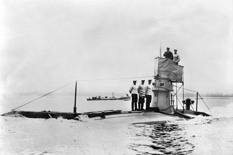 Kapal selam Inggris pada masa Perang Dunia I. Foto: Getty Images/Fotobank