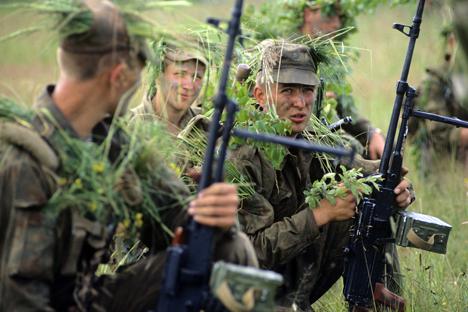 Ada pasukan yang tidak kalah dari KGB, yaitu Glavnoye Razvedyvatelnoye Upravleniye (GRU) yang selalu ikut dalam operasi rahasia. Foto: Igor Miyalev/RIA Novosti