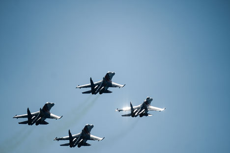 Pembentukan divisi Angkatan Udara dibentuk guna melindungi ruang udara Krimea dan melakukan pengiriman personel serta barang angkut ke markas komando angkatan bersenjata Rusia. Foto: RIA Novosti