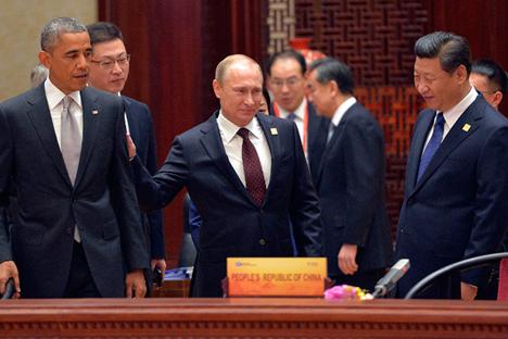 Dengan menyatakan bahwa area Asia Pasifik merupakan wilayah kunci kepentingan nasional AS, Barrack Obama tengah berupaya menciptakan sistem untuk menghambat Tiongkok. Foto: Reuters