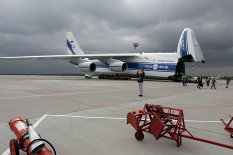 Salah satu dampak berakhirnya hubungan ekonomi Rusia dan Ukraina adalah kedua negara tersebut kehilangan pesawat kargo terbesar di dunia An-124 Ruslan. Foto: Listseva Marina/TASS