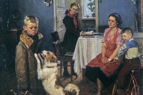 Seniman Soviet Fyodor Reshenikov membuat lukisan berjudul Another Two pada tahun 1952. Foto: RIA Novosti