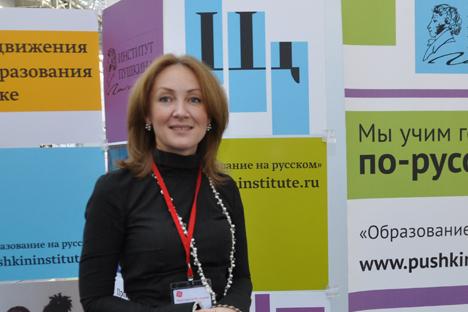 Rektor Institut Negeri Bahasa Rusia Pushkin Margarita Rusetskaya. Foto: Gleb Fedorov