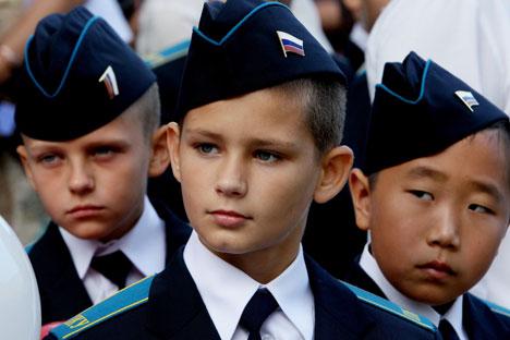 Korps taruna militer juga dibekali dengan mata pelajaran moral, karena mereka kelak akan menjadi para elit untuk angkatan bersenjata Rusia. Foto: RIA Novosti