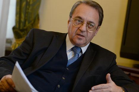 Wakil Menteri Luar Negeri Rusia Mikhail Bogdanov.