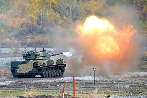 Sprut (Gurita) modifikasi baru ini akan berbeda dari Sprut yang sudah dimiliki Angkatan Bersenjata Rusia karena dibuat khusus untuk kendaraan tempur BMD-4M. Foto: Pavel Lisitsyn/RIA Novosti