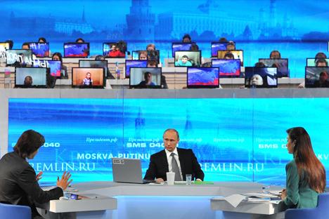 La Linea Diretta con Putin, edizione 2015.