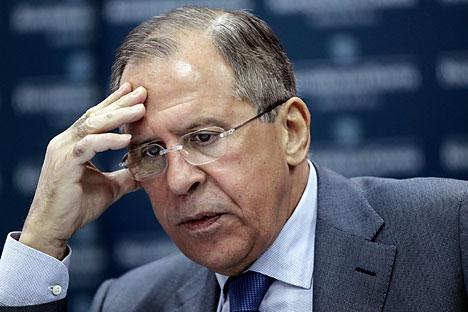 Menteri Luar Negeri Rusia Sergey Lavrov. Foto: Olesya Kurpyaeva/RG