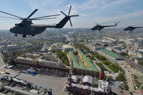 Perusahaan pengembang Mi-26 menyebutkan, permintaan untuk helikopter kargo kelas berat di pasar helikopter global terus meningkat. Foto: Ria Novosti/Vladimir Astapkovich
