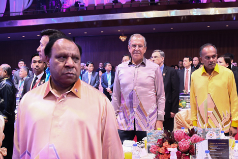 Kunjungan Sergei Lavrov pada 5 dan 6 Agustus lalu di Kuala Lumpur pada KTT ASEAN Summit. Foto: Kementerian Luar Negeri Rusia