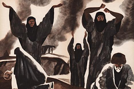 Haji Murat. Ilustrasi oleh Baki Urmanche.