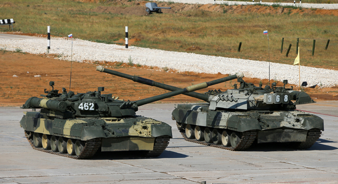 The main prize for the foreign teams is the new principal combat tank of the Russian armed forces, the T-90.