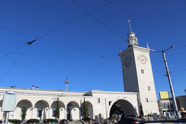 Zh/D vokzal di kota Simferopol, Krimea. Foto: Fauzan Al-Rasyid