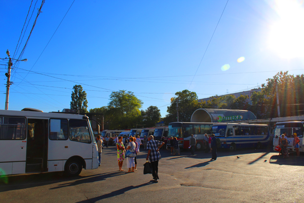 Zh/D vokzal di kota Simferopol, Krimea.