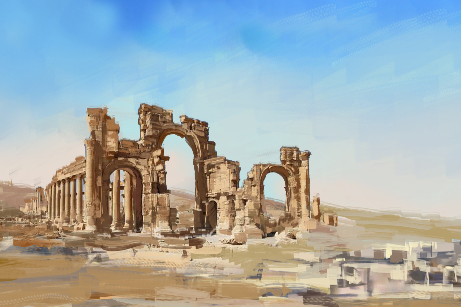 Northern Palmyra mourns its Syrian sister>>>