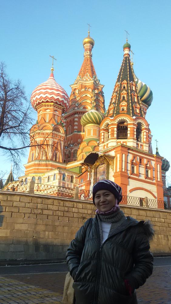 Katedral St Basil, Moskow. Foto: Dewi Rusiana