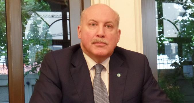 Sekjen Organisasi Kerja Sama Shanghai (Shanghai Cooperation Organisation/SCO) Dmitry Fedorovich Mezentsev.