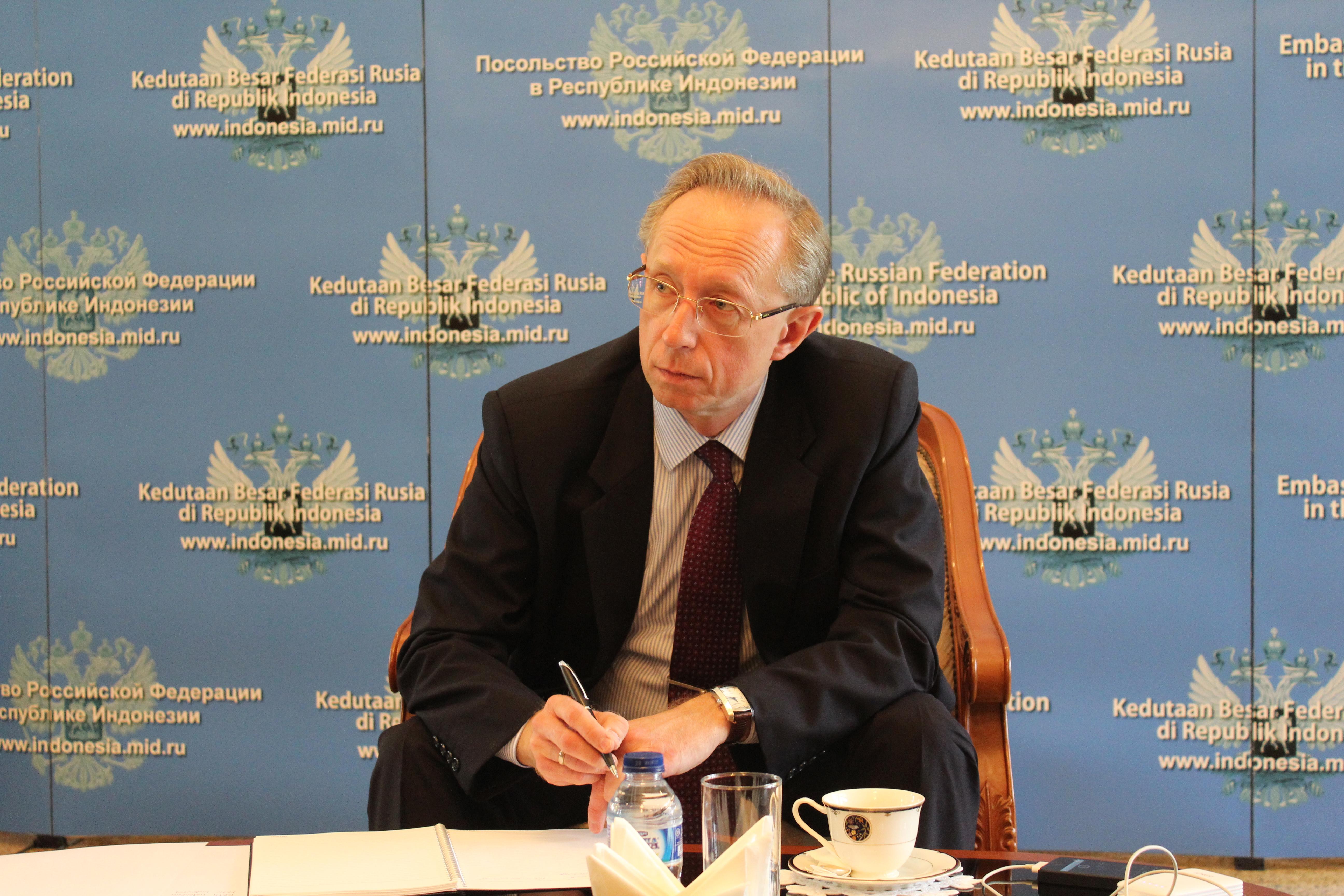Duta Besar Rusia untuk Indonesia Mikhail Y. Galuzin.