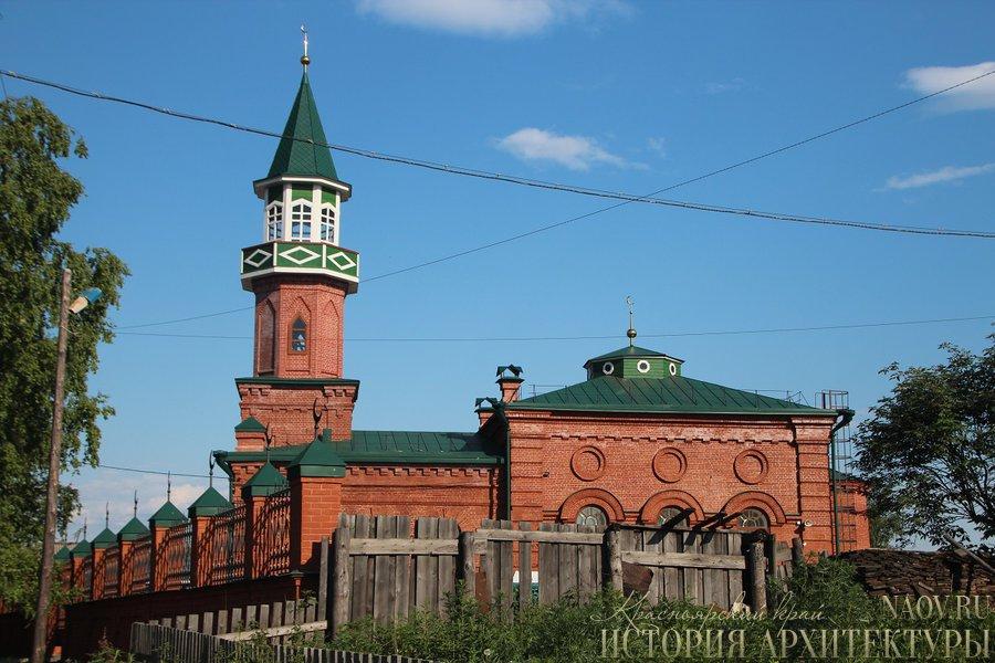 Bangunan masjid batu tertua di kota Yeniseysk setelah direstorasi.