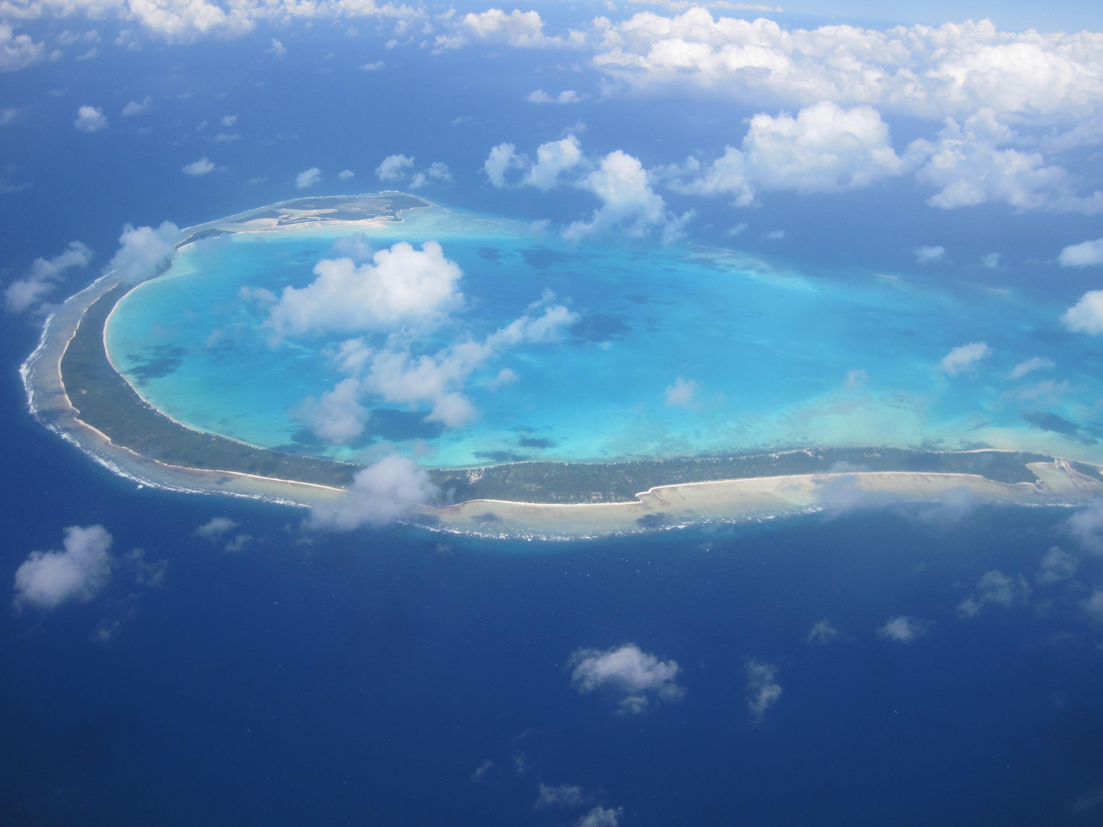 Atol Onotoa di Kepulauan Gilbert, Republik Kiribati.