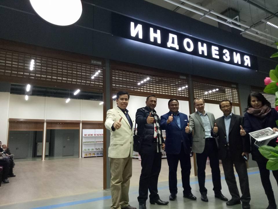 Untuk pertama kalinya dalam sejarah, Indonesia membuka gerai produk lokal secara permanen di Moskow.