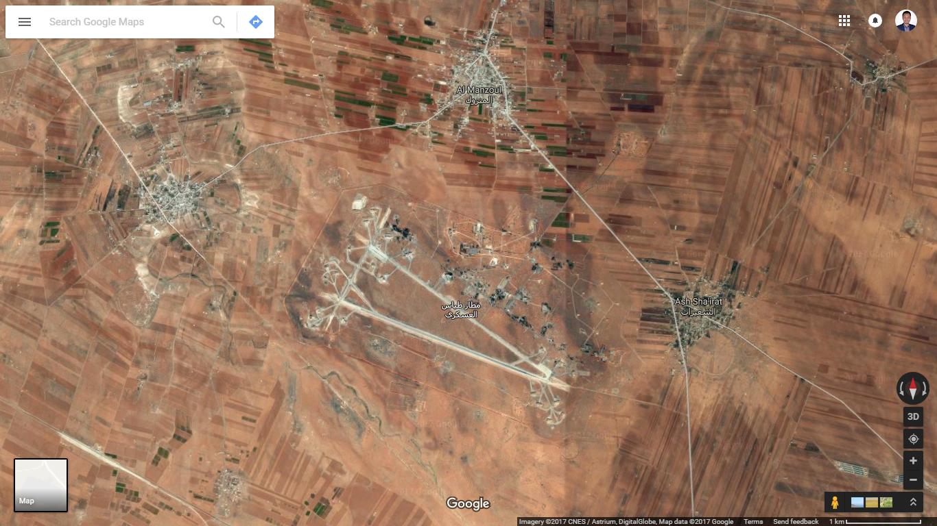 Lapangan udara militer Ash Sha'irat, Suriah.