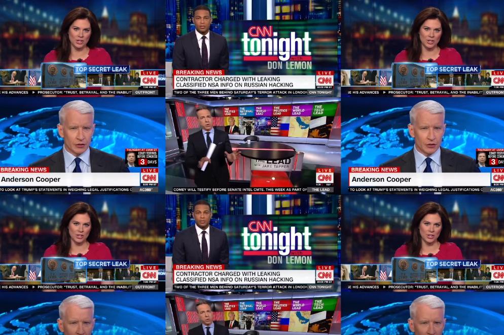 """Sejak pelantikan Donald Trump, CNN telah menyebut kata """"Rusia"""" sebanyak 15.694 kali selama siaran berita mereka"""