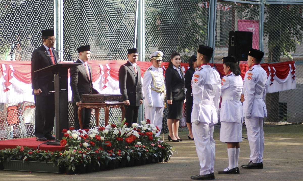 Upacara Bendera HUT RI ke-72 di KBRI Moskow.