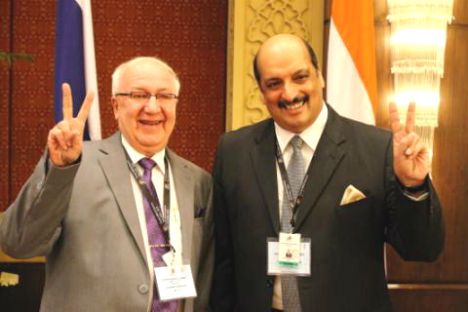 Alexander Kadakin, Ambassador of Russia to India (L) and Ajai Malhotra, Ambassador of India to the Russian Federation (R). Source: Press Photo