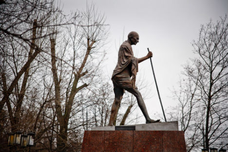 Ghandi in Moscow