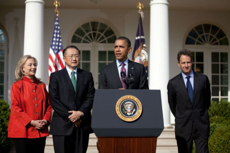 President Obama announces Dr. Jim Yong Kim as nominee to lead World Bank. Source: en.wikipedia.org