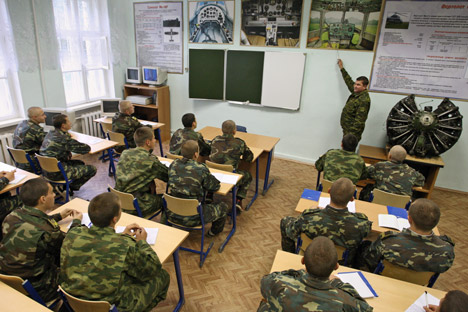 Creation of the unified English language course for all higher educational institutions of the Ministry of Defense is not a one year task. Source: ITAR-TASS