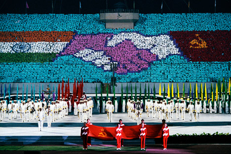 Grand opening of the USSR festival in New Delhi, 1987. Source: Vitaly Arutyunov/RIA Novosti