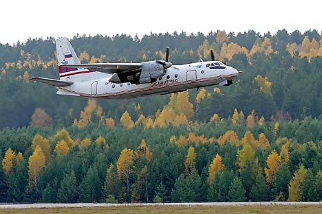 The AN-24 plane is a plane used for transport and regional airlines, which has been in service since the early 1960s.