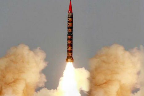 Pakistan's military claimed the successful launch of an intermediate-range ballistic missile. 25 April, 2012. Source: Reuters