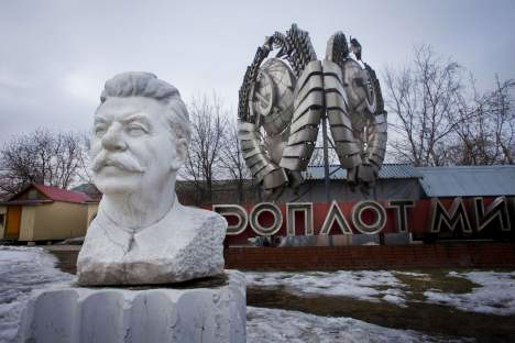 A bust of Stalin in the sculpture park at the Museon on Krymsky Val, which also includes six statues of Lenin and one of Sverdlov. Source: Ricardo Marquina Montanana