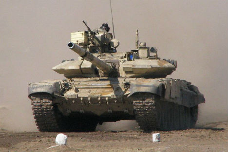 An Indian Army T-90S. Source: wikipedia