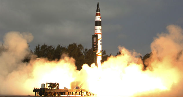 Agni-V is an intercontinental ballistic missile developed by the Defence Research and Development Organisation (DRDO) of India. On 19 April 2012 at 8.07 am, the Agni V was successfully test-fired by DRDO from Wheeler Island off the coast of Odisha. S
