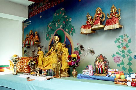 Golden statues of Buddha. Tsechenling Buddhist Temple. Kyzyl Tyva Russia. Source: Alamy/Legion-Media