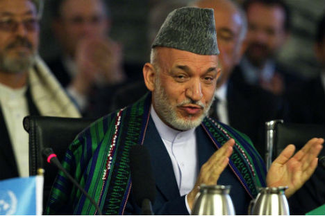Hamid Karzai. Source: Reuters