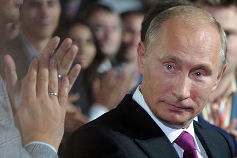 Russian President Vladimir Putin will visit India in November. Source: AP