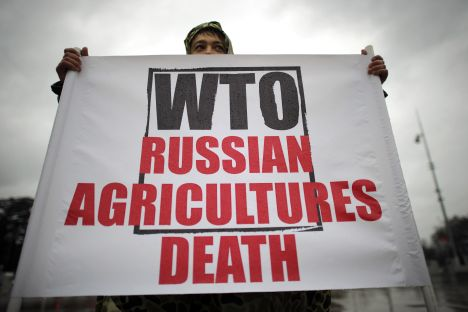 Some protests against Russia's accession to WTO within the country hasn't prevented State Duma from ratifying the protocol on Russia's membership in the world trade organization. Source: AFP / East News
