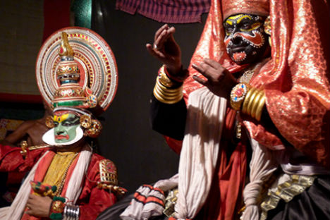 Kutiyattam, is a form of Sanskrit theatre traditionally performed in India. Source: Nasya Demich