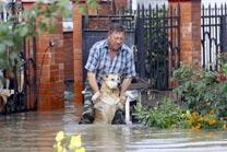 Consequences of a flood in Krasnodar region