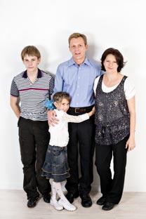 Alexander and Olga with their children Oleg and Dasha